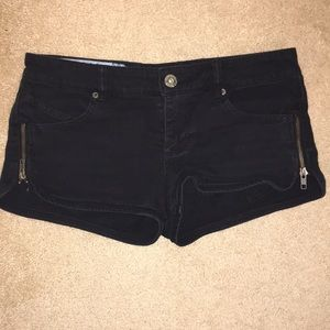 Roxy side zip denim shorts - black size 5(juniors)
